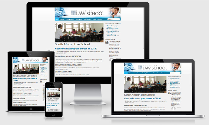South African Law School responsive design